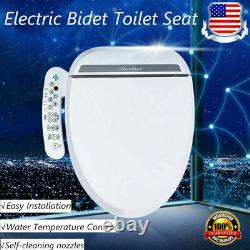 110V Bidet Fresh Water Spray Kit Electric Toilet Seat Attachment Clear Wash Rear