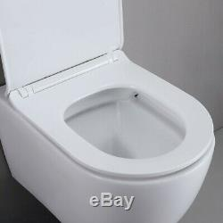 1.1/1.6 GPF Dual Flush Elongated Wall Hung Toilet Set with In-Wall Tank in White