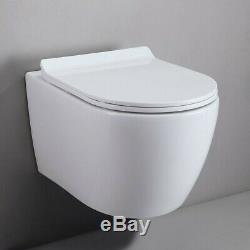 1.1/1.6 GPF Dual Flush Elongated Wall Mount Toilet & In-Wall Tank Carrier System