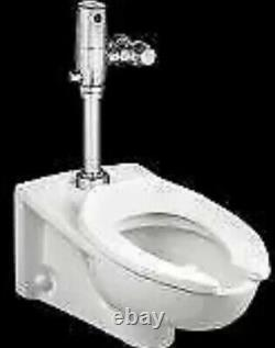 AMERICAN STANDARD 2257101.020 Elongated Wall Mount Toilet Bowl 1.1 to 1.6 gpf