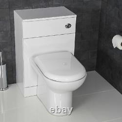 Back To Wall Toilet Unit BTW Classic Bathroom Pan Cistern Soft Close Seat White