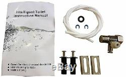Bidet4me E-300A Electric Bidet Toilet Seat Elongated White, Plastic -DIY Kit