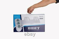 Bidet Toilet Seat Attachment with Self Cleaning Dual Nozzle, Hot and Cold Water