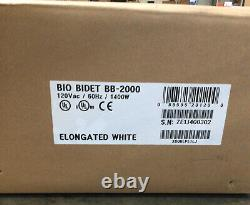 Bio Bidet BLISS BB-2000 Elongated White with Remote Control Sealed Read