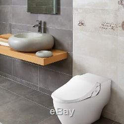Bio Bidet Slim Two Smart Toilet Seat in Elongated White with Stainless Steel
