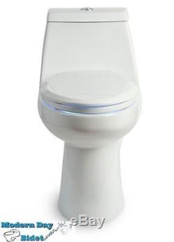 Brondell LumaWarm Heated Toilet Seat with nightlight beige for elongated toil