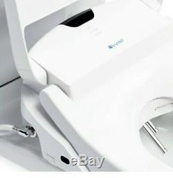 Brondell S1400 Luxury Bidet Toilet Seat Elongated White Stainless Steel Nozzles