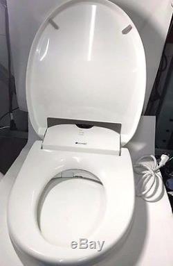 Brondell Swash 1000 Elongated White Electrical Toilet Seat, New Other