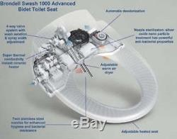 Brondell Swash CS1000 Bidet Toilet Seat with Remote, NEW SHIPS FROM STORE