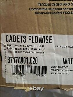 Cadet 3 FloWise Tall Height Elongated Toilet Bowl Only in White-VIP791556035164R