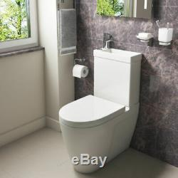 Compact Space Saver Combi 2 in 1 Mini Cistern, Basin, Toilet, Seat And Mixer Tap