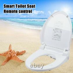 Electric Bidet Toilet Seat for Elongated Toilets with Remote LED Nightlight USA