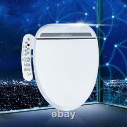 Electric Elongated Bidet Toilet Seat Heated Anti-Bacterial Seat Twin Nozzles