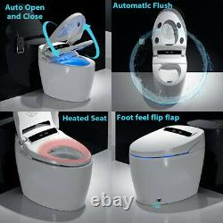 Elongated One Piece Toilet Smart Toilet with Advance Bidet & Soft Closing Seat