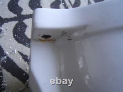 GERBER JEFFERSON 1939 46 ROUND toilet bowl for wall tank rear inlet water WHITE