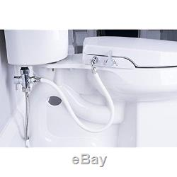 GenieBidet Seat Dual Bidet Seats Self Cleaning Nozzles Sleek Style Elongated