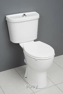 ICare Disabled Doc M Close Coupled Toilet Comfort Height Pan Cistern Seat