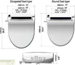 INFINITY BIDET ROUND XLC-3000 Electric Toilet Seat Remote Endless Warm Water New