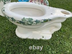 Kohler Revival Peonies & Ivy Two-Piece Complete Toilet (Tank+Bowl)+ Cantata Sink