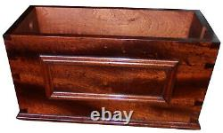 Mahogany Tapered Sides High Level Wooden Toilet Cistern With Lid