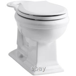 Memoirs Comfort Height Round Front Toilet Bowl Only In White