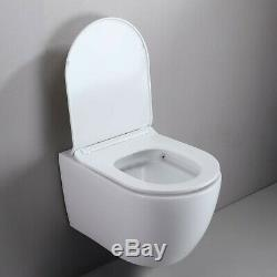 One-Piece Dual Flush 12 Wall-Mount Elongated Toilet Bowl in White Seat Included