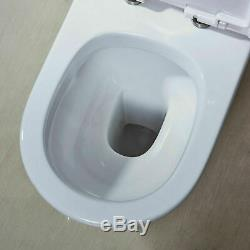 Oval Round BTW Close Coupled Modern Toilet Soft Close Seat + Free Pan Connector