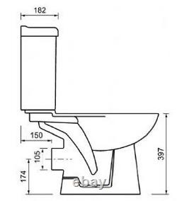 Pinara All In One Combined Bidet Toilet With Soft Close Seat