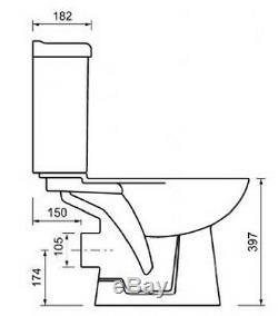 Pinara All In One Combined Toilet With Bidet And Soft Close Seat
