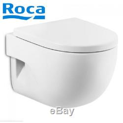 ROCA WC Toilet Pan Wall Hung MERIDIAN N with ROCA seat Complete ROCA Meridian