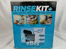 RinseKit Portable Shower With Hot Water Sink Adapter Plus Gray New