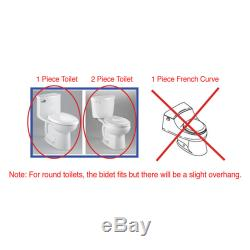 SmartBidet SB-1000 Electric Bidet Warm Toilet Seat for Elongated With Remote Refur