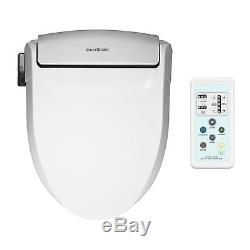 SmartBidet White Electric Bidet Seat with Wireless Remote Control for Elongated