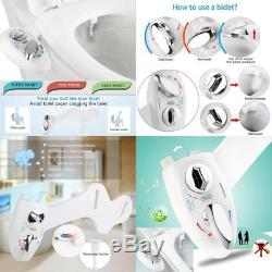 Smart Bidet Toilet Kit Water Spray Seat Attachment Self Cleaning Hot Cold Water