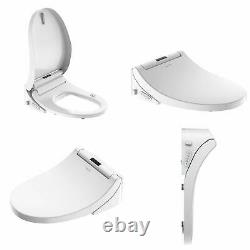 Smart Bidet Toilet Seat with Cleaning Nozzle& Air Dryer & Heated Seat Easy-Cleaned