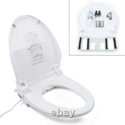 Smart Electric Bidet Toilet Seat Warm Water Cleaning Self-Cleaning with Nightlight