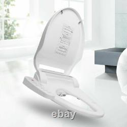 Smart Electric Bidet Warm Toilet Seat Fit Elongated Toilets Instant Heating Seat