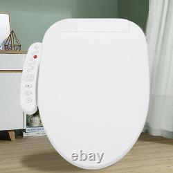 Smart Toilet Seat Electric Bidet with Cover Warm Water Self-Cleaning Auto Dry