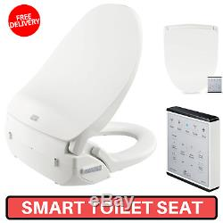 Smart Toilet Seat With Stainless Steel Bidet & Wireless Remote Control Included