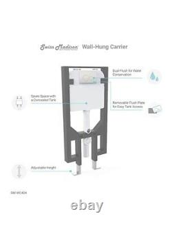 Swiss Madison Concealed In-Wall Toilet Tank Carrier System 2 x 4 Dual Flush