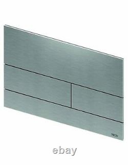 TECE square II 9240830 metal actuation flush plate brushed stainless steel
