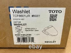 TOTO A100 WASHELT Electric Bidet Seat for Elongated Toilet in Cotton White