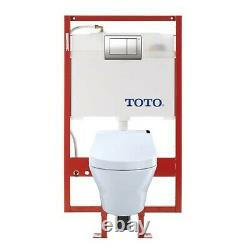 TOTO CWT4372047MFG-3#01 MH Connect+ Wall-Hung Toilet and C200 Washlet Bidet S