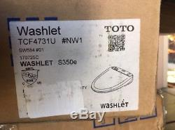 TOTO Washlet S350e Elongated Bidet Toilet Seat with Auto Open and Close SW584#01