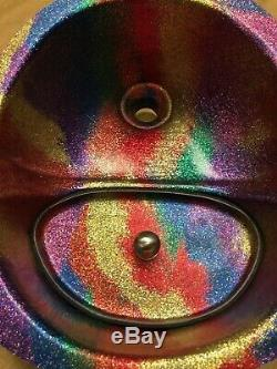The Rainbow Glitter Urine Separator + matching Modesty Bung for Compost Toilets