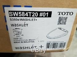 Toto S350e Elongated Bowl Washlet Seat with eWater SW584T20#01 With Remote Control