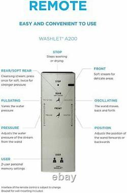 Toto Washlet Electronic Bidet Toilet Seat with SoftClose Lid and Remote Control