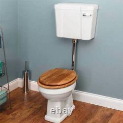 Traditional Cloakroom Toilet Pan White Gloss Ceramic Pan Only