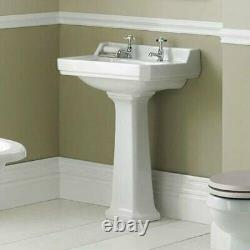 Victorian Traditional Close Coupled Toilet WC Lever Cistern Basin Pedestal Suit