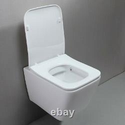 Wall Mounted One-Piece 1.1/1.6 GPF Dual Flush White Elongated Toilet Bowl Only